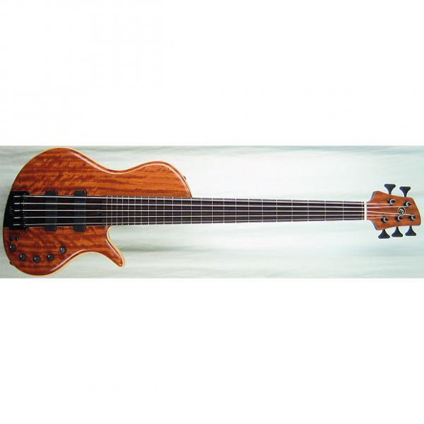 Custom Elrick Handcarved e-volution 5-String Bass Guitar, Platinum Series Single-Cut, Wenge Fingerboard #1 image