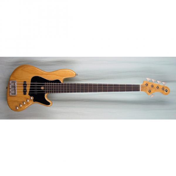 Custom Elrick Expat Handmade New Jazz Standard 5-String Bass Guitar, Natural Clear Gloss Finish, Rsw. Fb. #1 image
