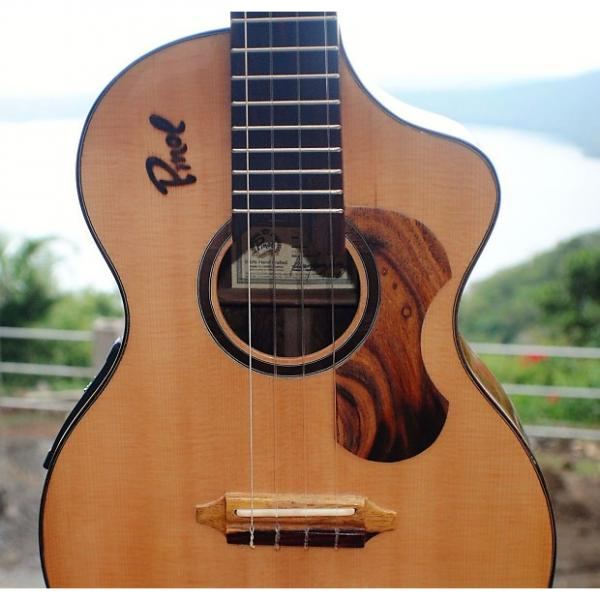 Custom Custom Handcrafted Solid Cocobolo Rosewood Electric Baritone Ukulele w/t Soundport & Cutaway #1 image