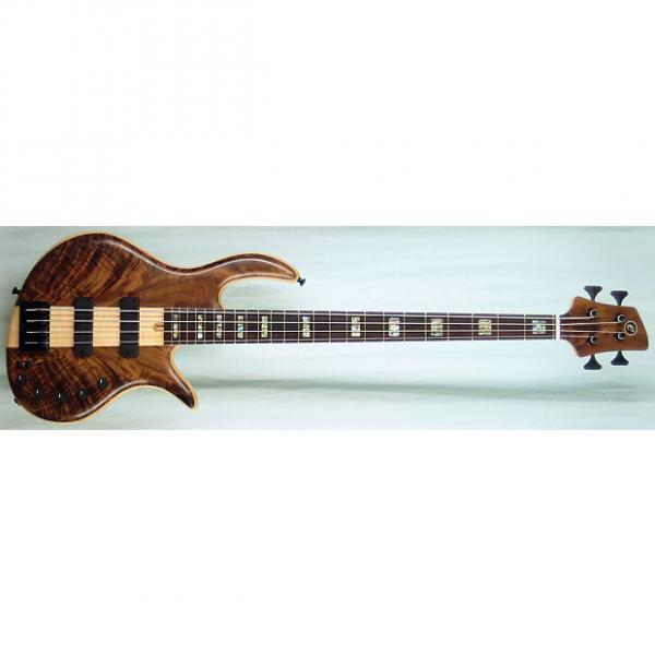 Custom Elrick Handcarved e-volution 4-String Bass Guitar, Platinum Series, Wenge Fingerboard #1 image