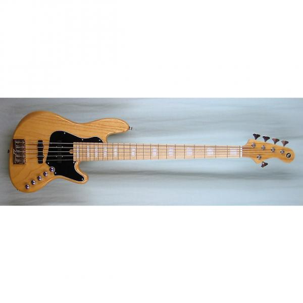 Custom Elrick Expat Handmade New Jazz Standard 5-String Bass Guitar, Clear Gloss Finish, Maple Fingerboard #1 image