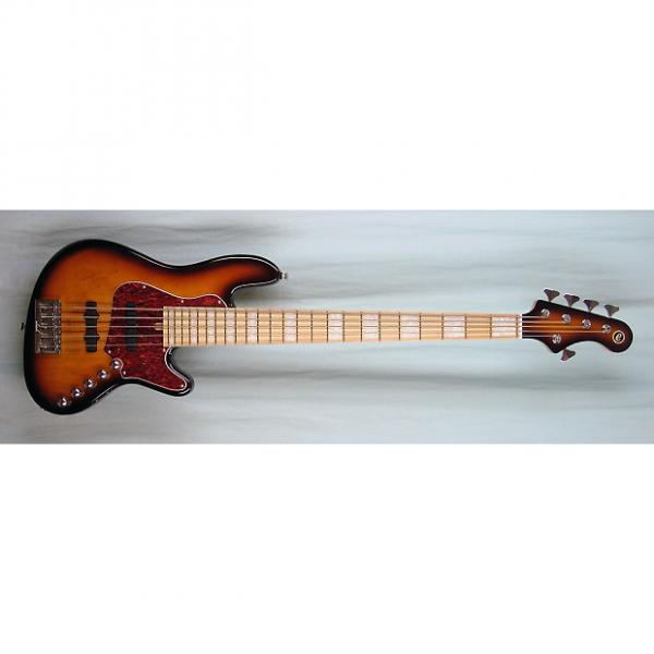 Custom Elrick Expat Handmade New Jazz Standard 5-String Bass Guitar, Antique Tobacco Sunburst Finish #1 image