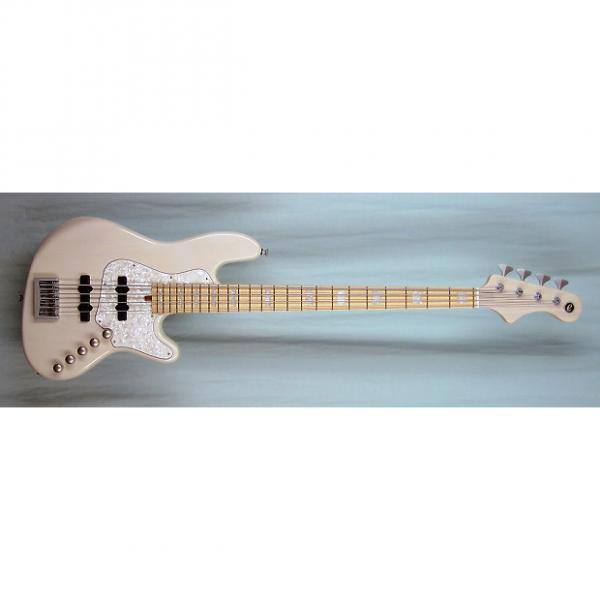 Custom Elrick Expat Handmade New Jazz Standard 4-String Bass Guitar, Transparent White Finish, Maple Fb #1 image