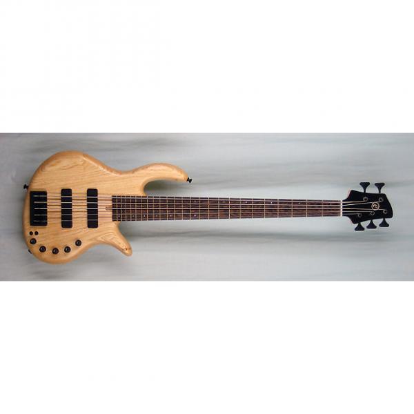Custom Elrick Expat Handmade e-volution 5-String Bass Guitar, Natural Satin Finish, Wenge Fingerboard, #1 image