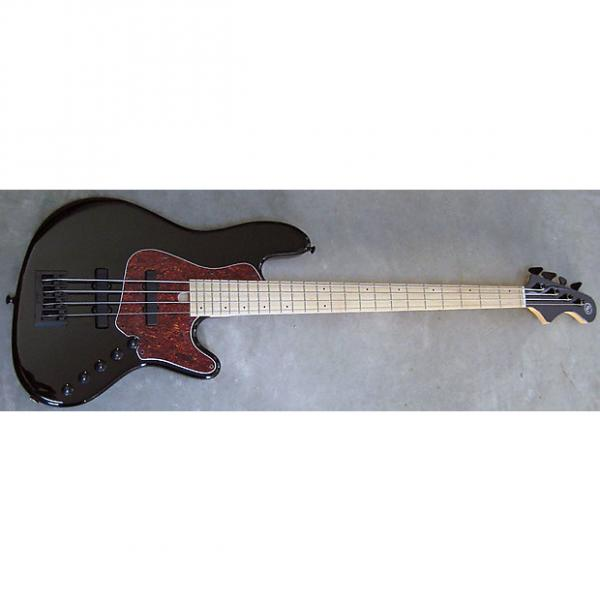 Custom Elrick Expat Handmade New Jazz Standard 4-String Bass Guitar, Piano Black Finish, Maple Fingerboard #1 image
