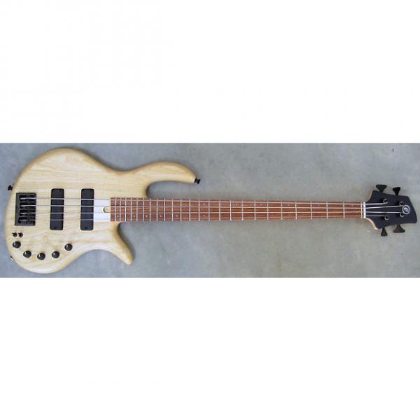 Custom Elrick Expat Handmade e-volution 4-String Bass Guitar, Natural Satin Finish, Bubinga Fingerboard, #1 image