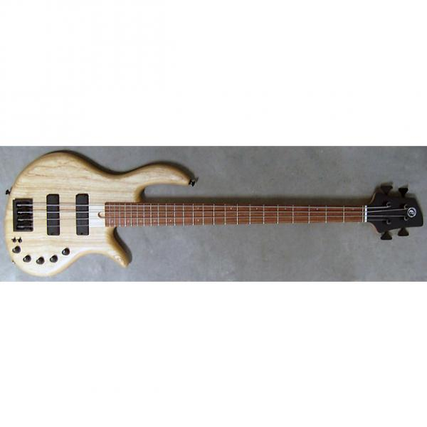 Custom Elrick Expat Handmade e-volution 4-String Bass Guitar, Natural Satin Finish, Bubinga Fingerboard #1 image