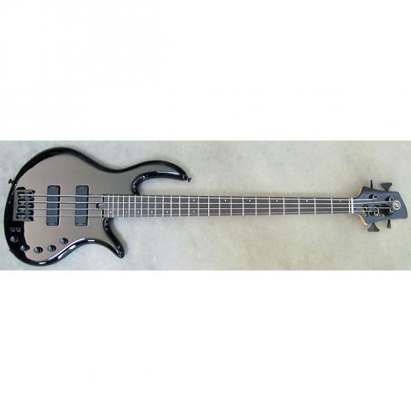 Custom Elrick Expat Handmade e-volution 4-String Bass Guitar, Gloss Black Laquer, Gabon Ebony Fingerboard #1 image