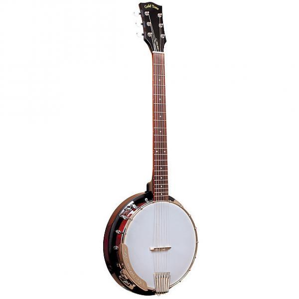 Custom Gold Tone CC-Banjitar Cripple Creek 6-String Banjo - Vintage Brown #1 image