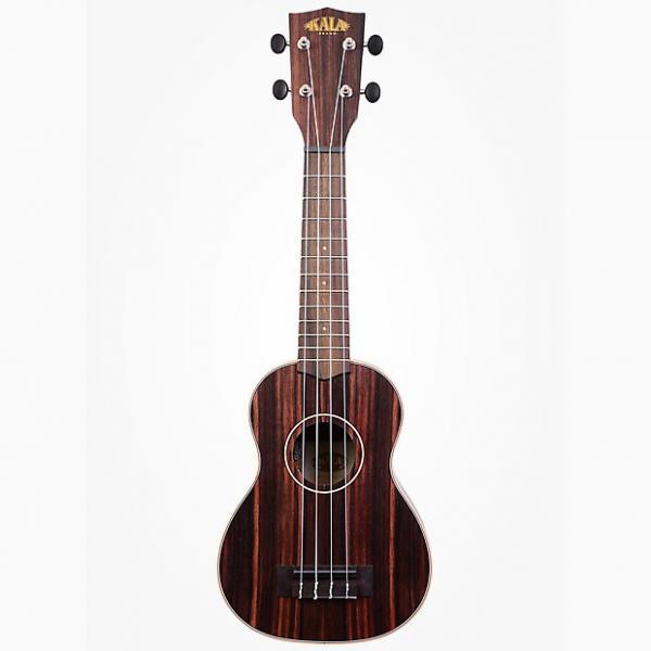Custom Kala Ebony Soprano Ukulele Right-Hand Uke w/ Rosewood Fingerboard Aquila Strings #1 image