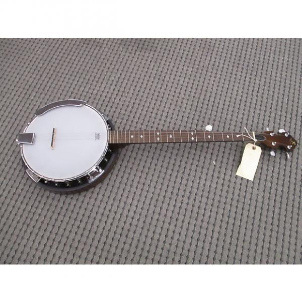 Custom J Reynolds 5 str4ing banjo package deal Brown Mahogany #1 image