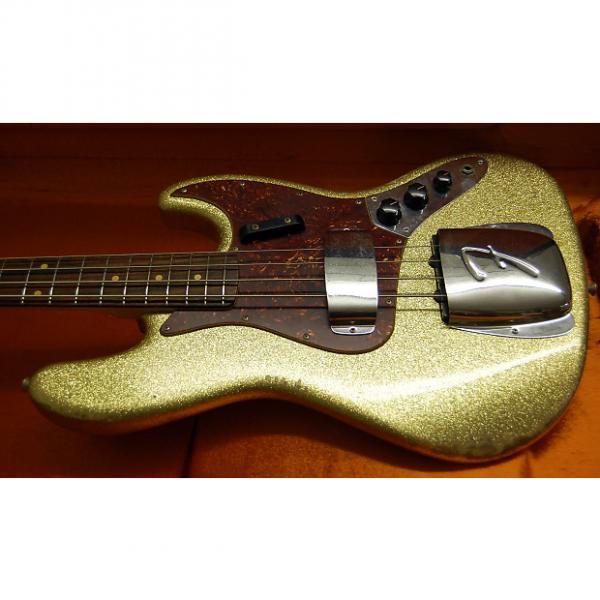 Custom 2016 Fender Custom Shop 64 Jazz Bass Relic Gold Sparkle Finish Super RARE Only 9lbs 2oz OHSC #1 image