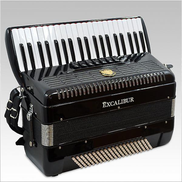 Custom Excalibur Ultralight Weltbestin Piano Accordion 7 Switch 2016 Black #1 image