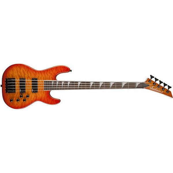 Custom Jackson JS3VQM Concert Bass Rosewood Fingerboard Transparent Amber 2919020520 #1 image