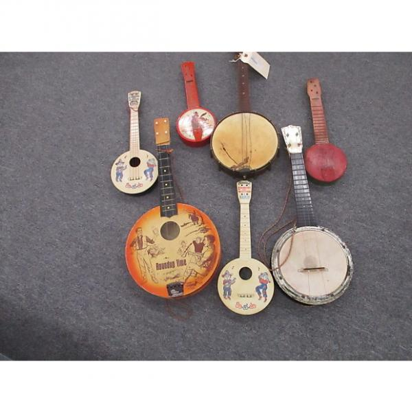 Custom Ukuelels Batch of 7 assorted vitage ukulele wall hanger projects 1920-60's #1 image