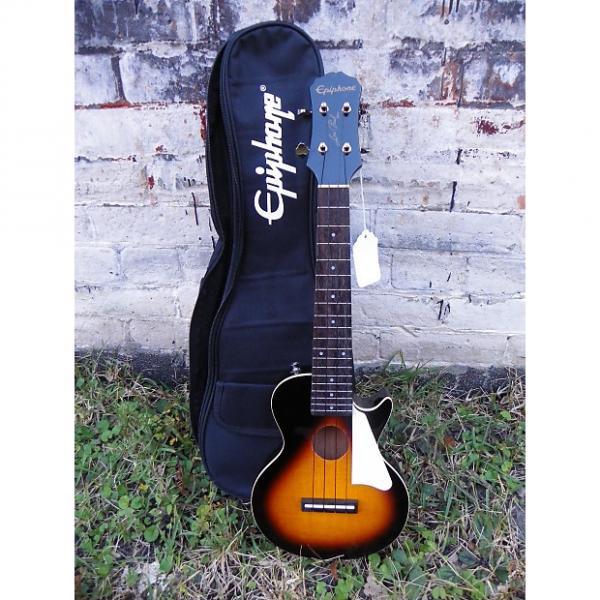 Custom Epiphone Les Paul Acoustic-Electric Concert Ukulele w bag #0525 Seller Refurbished #1 image
