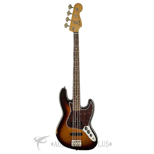 Custom Fender Road Worn '60s Jazz Bass Rosewood Fingerboard Electric Bass 3-Color Sunburst - 0131810300 #1 image