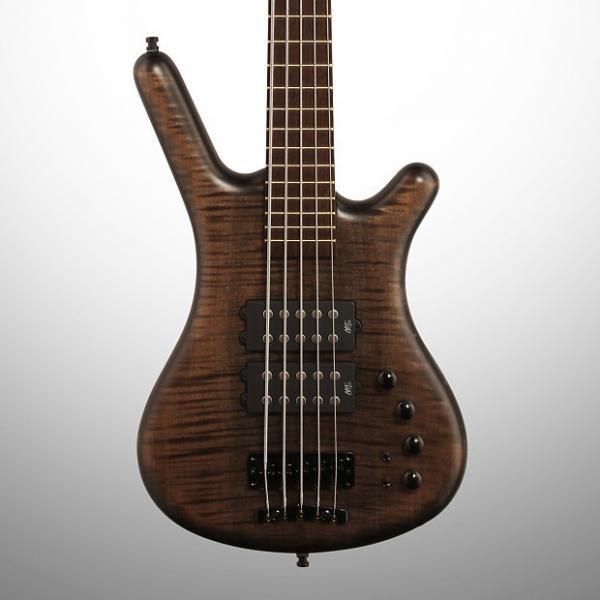 Custom Warwick German Corvette $$ (Double Buck) 5-String Electric Bass, Nirvana Black Oil, 2016 #1 image