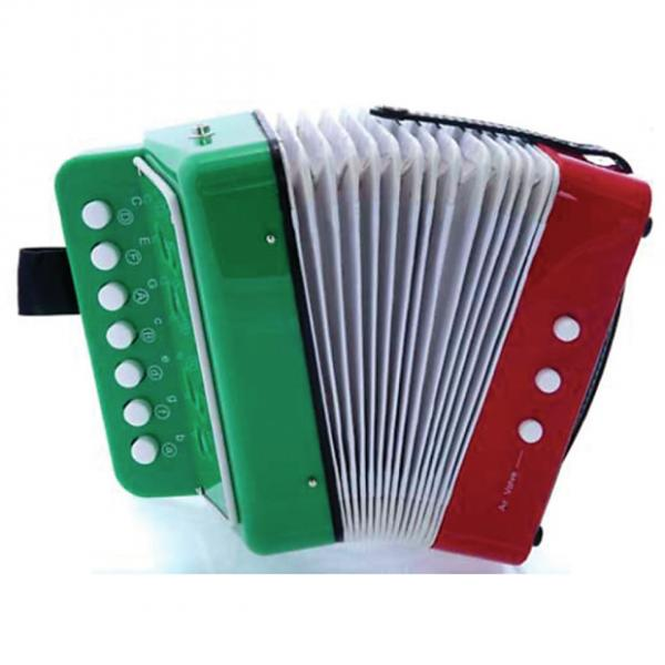 Custom M/M -  Child Size Accordion - Mexican Flag Design, your child will love it - model: #1 image
