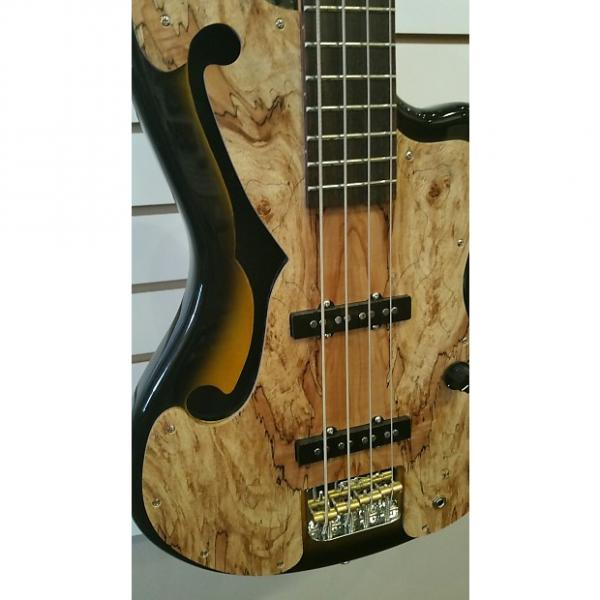 Custom Italia Imola 4 Bass 2015 2 Tone Sunburst w/ factory custom Spalted Maple pickguard #1 image