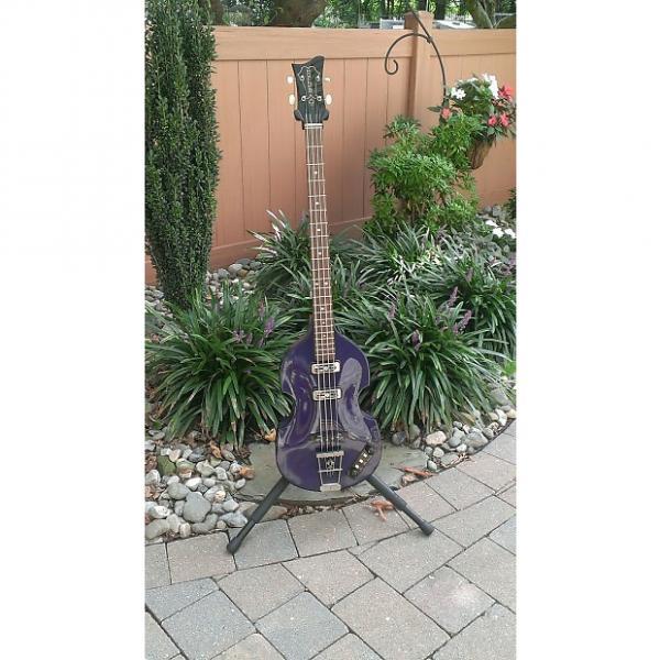 Custom Hofner Gold Label Violin Bass Recent Purple #1 image