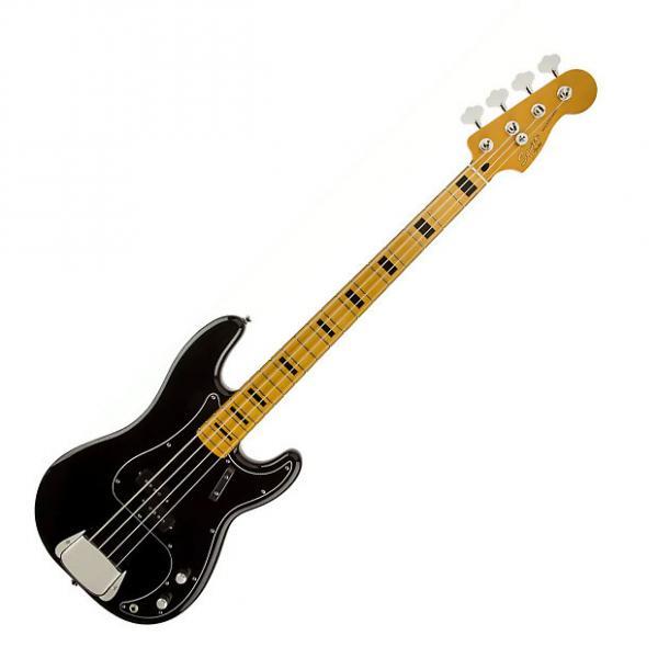Custom Squier Classic Vibe P Bass '70s Maple Black #1 image