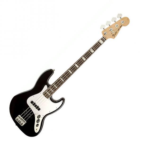Custom Fender Classic 70s Jazz Bass Guitar Black #1 image