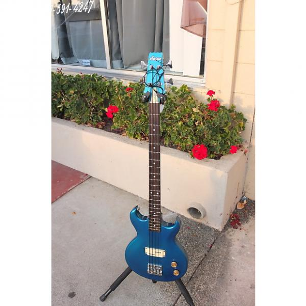 Custom Aria Pro II CBS-450 1982 Electric blue sparkle P Style Bass #1 image