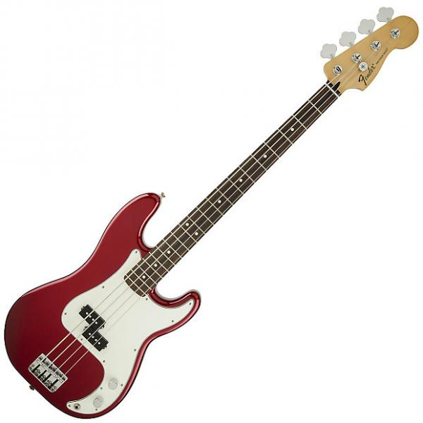 Custom Fender Standard Precision Bass Guitar Rosewood Candy Apple Red #1 image