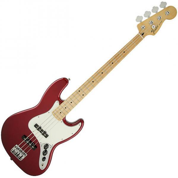 Custom Fender Standard Jazz Bass Guitar Maple Candy Apple Red #1 image