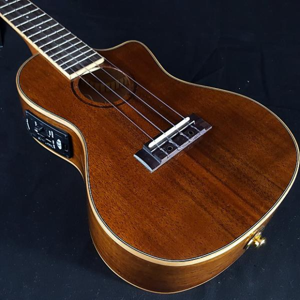 Custom New KALA KA-KCGE-C Koa Wood Top, Back & Sides Acoustic Electric Concert Ukulele #1 image