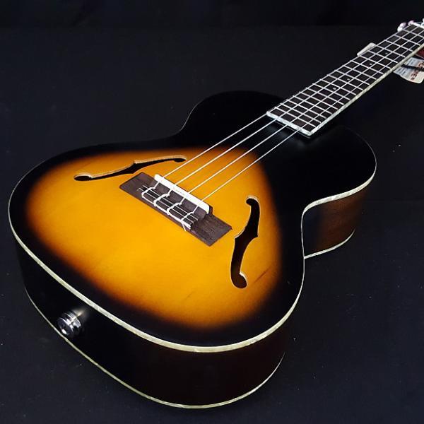 Custom New KALA KA-JTE 2TS Sunburst Jazz F-Hole Tenor Acoustic Electric Ukulele Archtop #1 image