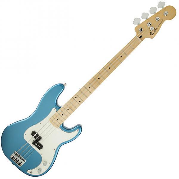 Custom Fender Standard Precision Bass Guitar Maple Lake Placid Blue #1 image