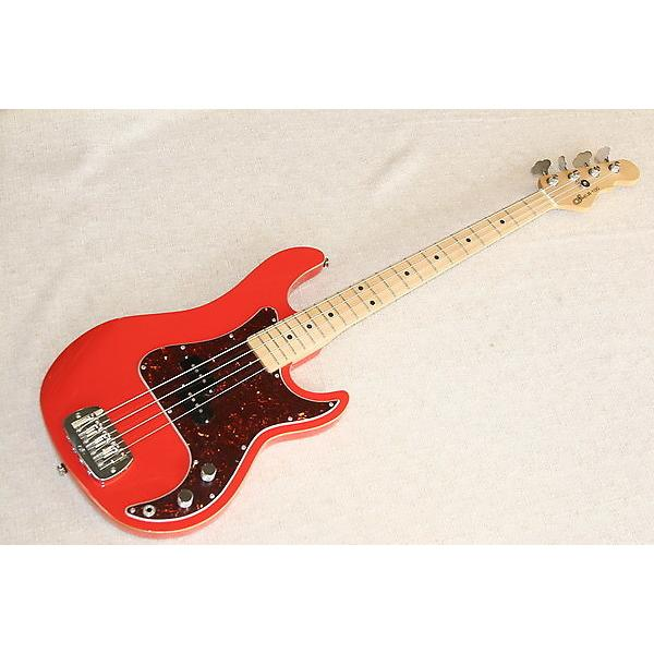 Custom G&L LB-100 P-Style Fullerton Red with wood binding #1 image