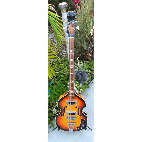 Custom 1960's Sekova Hollow Body Bass Guitar Hofner 500 Copy REDUCED PRICE #1 image
