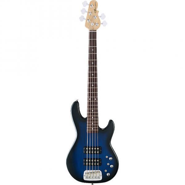Custom G&L Guitars L-2500 Blue Burst Tribute Series 5-String Electric Bass #1 image