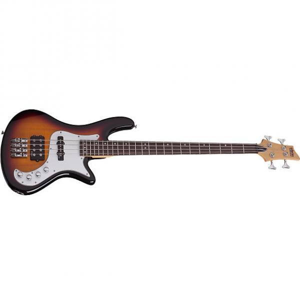 Custom Schecter Stiletto Vintage-4 3-Tone Sunburst 3TSB 4-String Electric Bass with FREE GIG BAG! #1 image