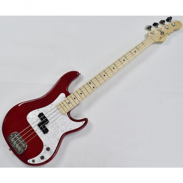 Custom G&L USA Custom LB-100 Empress Body Electric Bass in Clear Red! Under 7 lbs! #1 image
