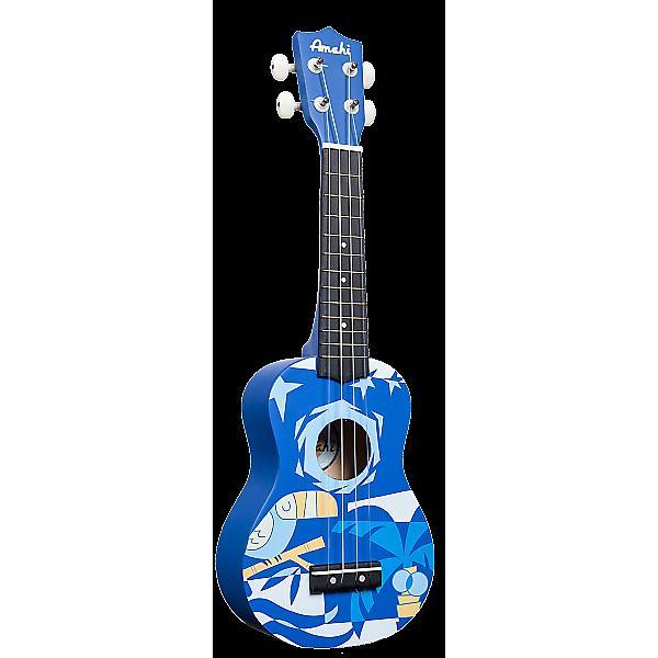 Custom Amahi Blue Bird Soprano Ukulele #1 image