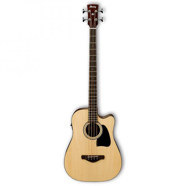 Custom Ibanez AWB50CENT Acoustic Electric Bass Solid Sitka Spruce Top Natural 2015 #1 image