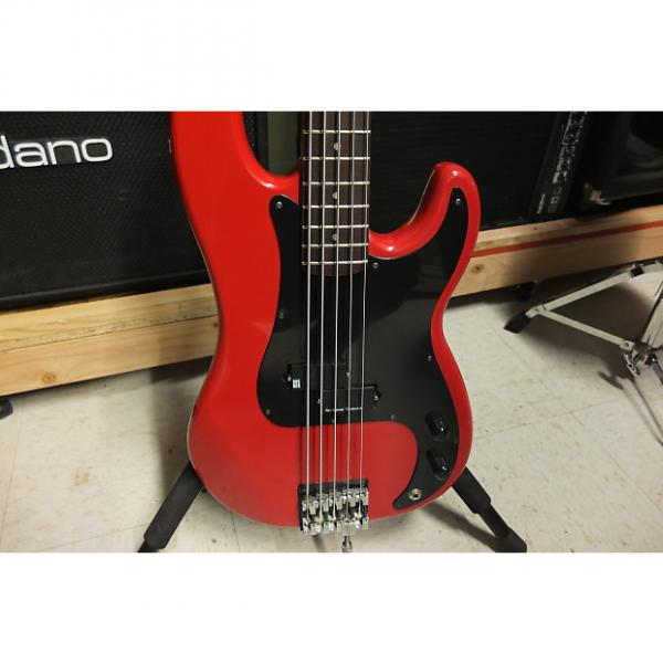 Custom JB Player P Bass 2000's Red 5 String modification #1 image