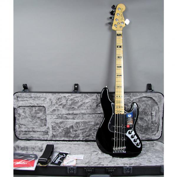 Custom Fender American Elite Jazz Bass V 5-String 2016 Black #1 image