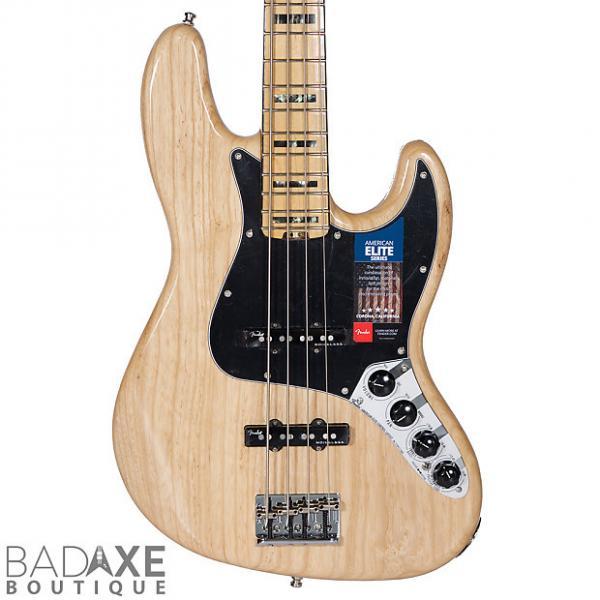 Custom Fender American Elite Jazz 4 Bass Natural w/Case #1 image