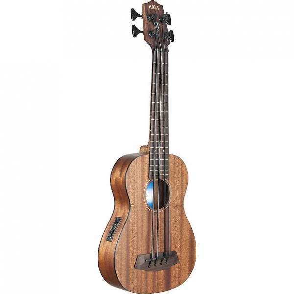 Custom Kala UBASS Solid Mahogany SMHG-FS Fretted Ukulele Bass with Bag #1 image