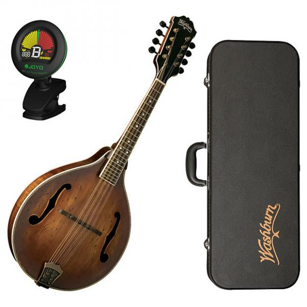 Custom Washburn M116SWK Vintage A-Style Mandolin with Case Bundle #1 image