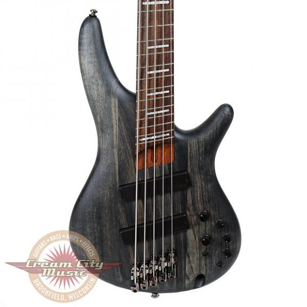 Custom Brand New Ibanez SRFF805 5-String Fanned Fret Electric Bass in Stained Black #1 image