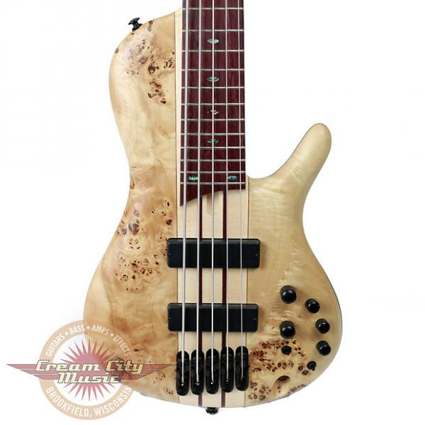 Custom Brand New Ibanez SRSC805 5-String SR Series Bass w/ Poplar Burl Top in Natural Flat #1 image