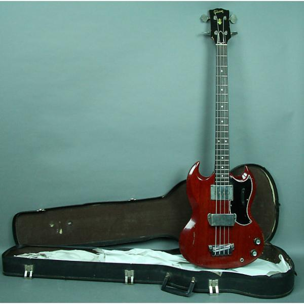 Custom Gibson  EB-0 Solidbody SG Style Electric Bass Guitar Cherry Red w/OHSC 1963 Cherry Red #1 image