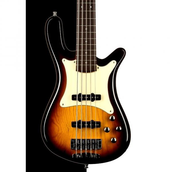 Custom Warwick German Pro Series Streamer CV 5-String Electric Bass, Vintage Sunburst HP #1 image