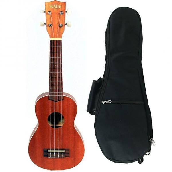 Custom Kala Mahogany Rosewood Fingerboard Soprano Ukulele Uke Aquila Natural + Gig Bag #1 image